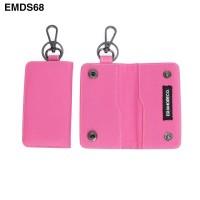 Dompet STNK Mobil Motor gantungan kunci pria wanita pink EMDS68