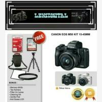 Canon Eos M50 Kit 15-45MM Paket Bonus 64GB&ACc-Camera Mirrorless