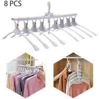 [8in1] Magic Hanger 8 in 1 Gantungan Baju Jemuran Lipat Portable