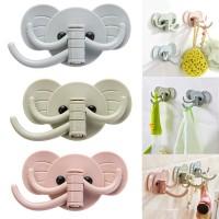 Gantungan 3 Hook Motif Gajah Hanger Tempel Multifungsi Kunci Baju