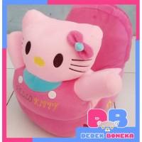 Boneka sofa odong-odong Hello Kitty Pink