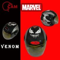 Helm SNI EVOLUTION Venom black doff Motor bukan gm