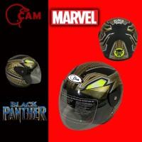 Helm Motor Evolution black panther Gold SNI bukan GM