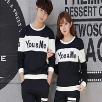Baju Couple LP You Me Kombinasi