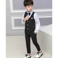 Setelan Tuxedo Anak Import Top+Pant+Vest+Tie Kode 02