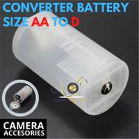 Konverter Adapter Baterai AA Ke D Converter Battery AA TO D