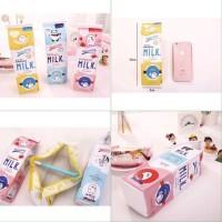 Tempat Pensil Kotak Susu - Kotak Pensil design berbentuk susu kotak