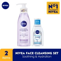 NIVEA Soothing Cleansing Oil 150ml + Micellair Hydration Skin 125ml