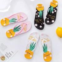 Sandal Jepit Nanas - sendal Flip Flop Nanas / sendal nanas