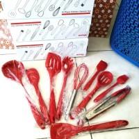 Promo Sutil Silikon / spatula isi 10 pcs set peralatan dapur serbaguna