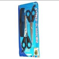 Cheril Gunting Rambut Set 3 pcs Gunting Sisir Silet dan Gunting Sasak