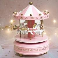 Kotak Musik Merry Go Round Musical Box Carousel Komidi Putar