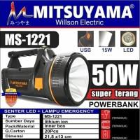 Senter Tangan Besar LED + Lampu Emergency Super Terang USB 50W MS-1221