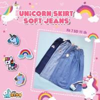 Rok anak soft jeans / rok anak denim perempuan / rok anak