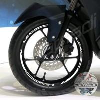 Stiker Velg Sticker Motor Decal Yamaha Lexi putih ring 14 Velk 2018