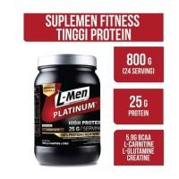 L-Men Platinum 800 gr Whey Protein with Isolate Lmen Choco Latte