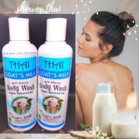 Thai Body Wash Goat Milk 250ml/ sabun cair/ BPOM/sabun mandi