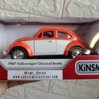 Diecast kinsmart mobil kodok Volkswagen vw beetle metal mainan anak