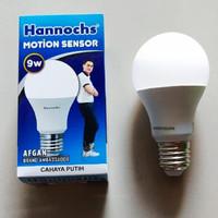 LAMPU SENSOR GERAK LED/MOTION SENSOR/HANNOCHS/5W,9W,13W NYALA PUTIH