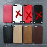 OBRAL Casing Jelly iPhone 5 5s Soft Case Carbon Fiber Kayu Koper Hard