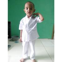 baju Koko Anak Anak bayi 2 – 3 Tahun Warna Putih Tangan Pendek