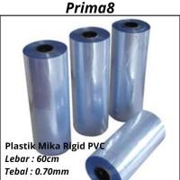 Plastik Mika Rigid Kaku Clear Bening Tebal 070 0.70mm Lebar 60cm