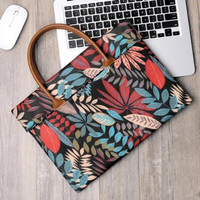 Tas Laptop Softcase Jinjing Macbook Forest Leaves Printed 11 12 inch