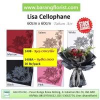 Lisa Cellophane (1408A), 20 lbr/pack, aksesoris toko bunga, kertas
