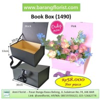 Book Box (1490), Aksesoris Toko Bunga, kota bunga, box bunga