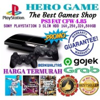 PS3 FAT HDD 120GB BARU BERGARANSI MESIN VOID ORI - HDD 60GB