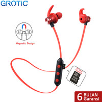 Headset Sport Wireless Bluetooth Magnet Stereo dengan Slot Kartu TF