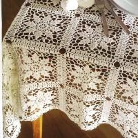 TMR081 Taplak Meja Rajut Handmade Vintage