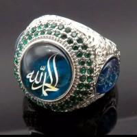 CINCIN ISLAM MOTIF ALLAH RAJA BINTANG STAINLESS STEEL RHINESTONE