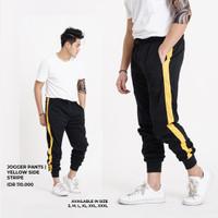 Celana Jogger Yellow Side Stripe/ Celana Training / Sweat Pants