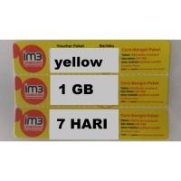 VOUCHER PAKET DATA INTERNET INDOSAT 1 GB YELLOW ( VC ISAT 1GB 7 HARI )