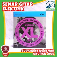 Senar Gitar Elektrik DAddario 009 EXL120 Super Light Nickel Wound