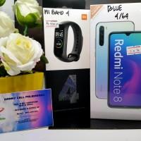 Xiaomi Note 8 ram 4/64gb + MI BAND 4 PAKET TERMURAH, Hanny cell