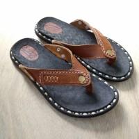 Sandal jepit pria kulit asli sapi model terbaru unik ori khazo KZ3021
