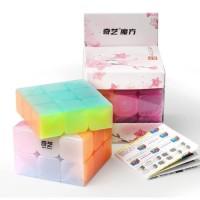 Rubik 3x3 QiYi Warrior W Jelly 3x3 SpeedCube Stickerless Transparan