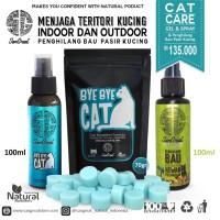 Paket Cat Care, teritorial kucing & penghilang bau pasir kucing