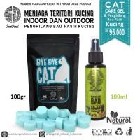 Paket teritori kucing gel 100 gr & penghilang bau pasir kucing