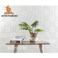 Wallpaper Dinding Sticker Foam 3D Batik Putih - Home Wallpaper
