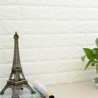 Wallpaper Dinding Sticker Foam 3D Bata Putih - Home Wallpaper