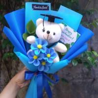 Boneka wisuda bunga flanel buket bunga flanel