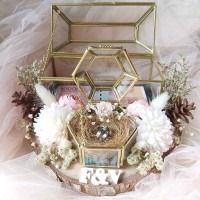 kotak mahar uang dan cincin seserahan cincin terarium glass box nikah