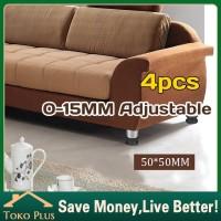 Adjustable 5-15cm Anti karat Kaki meja kursi/sofa stainless dan karet - 1pc.