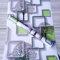wallpaper dindng 3d hijau 45 cm x 10 m