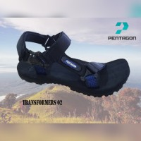 (TERMURAH) SANDAL GUNUNG SIMPLE,NYAMAN | SANDAL OUTDOOR ADVENTURE COWO - Biru, 39