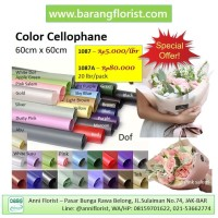 Color Cellophane 1087, 1 lbr, Aksesoris toko bunga, kertas bunga