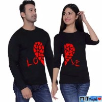 BAJU COUPLE LP RED LOVE